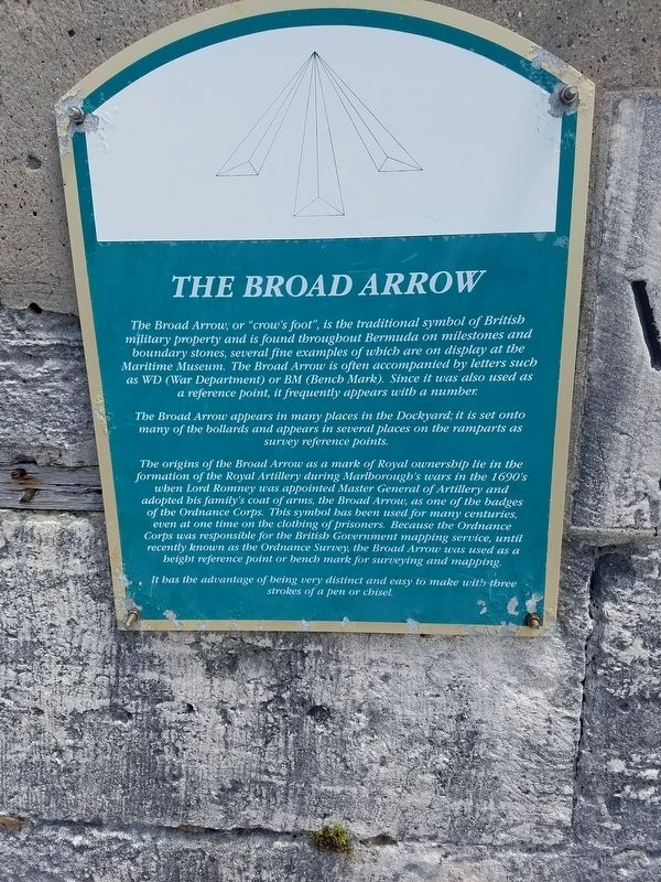 The Broad Arrow Marker image. Click for full size.