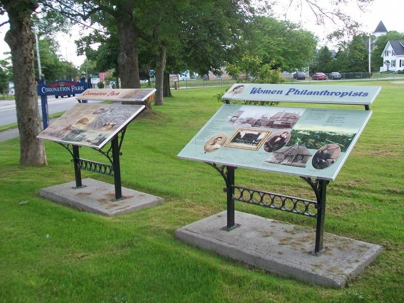 Coronation Park and Women Philanthropists Markers image. Click for full size.