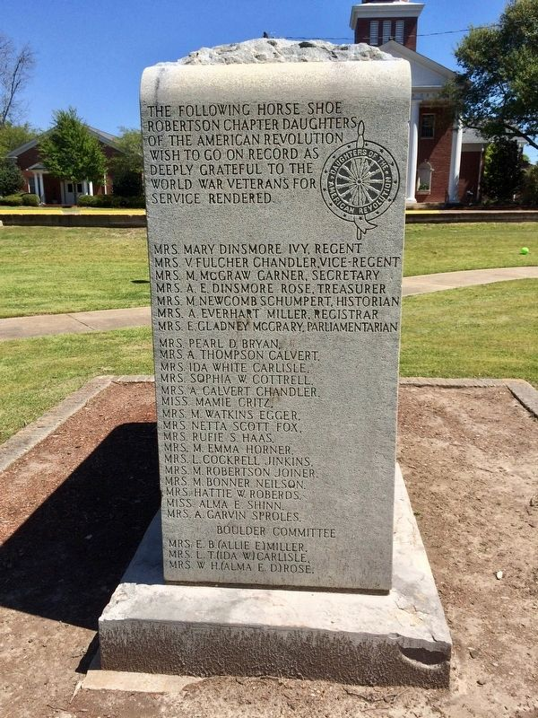 Clay County World War I Memorial (Left side) image. Click for full size.