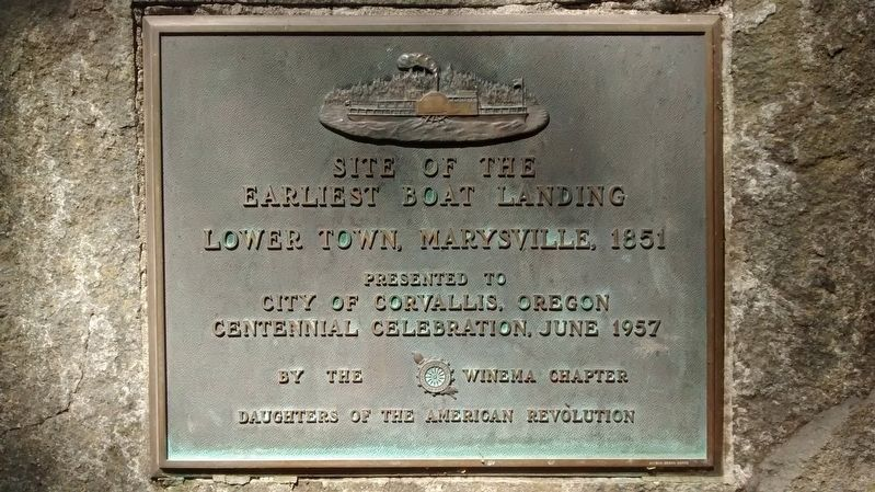 Site of the Earliest Boat Landing marker image. Click for full size.