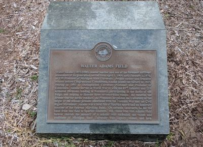 Walter Adams Field Marker image. Click for full size.