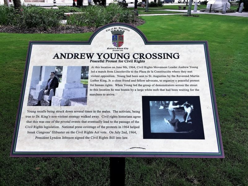 Andrew Young Crossing Marker image. Click for full size.