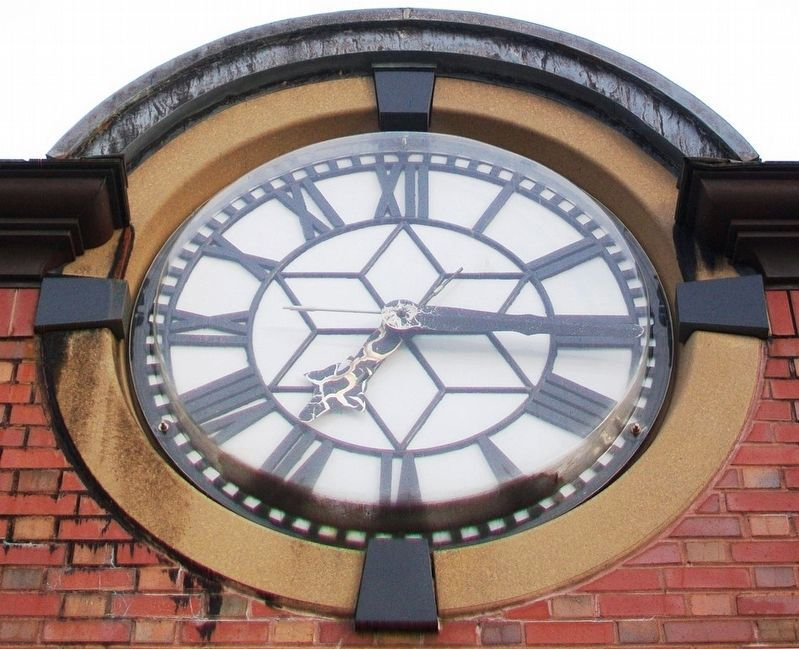 Former Milton Fire House Tower Clock Face image. Click for full size.