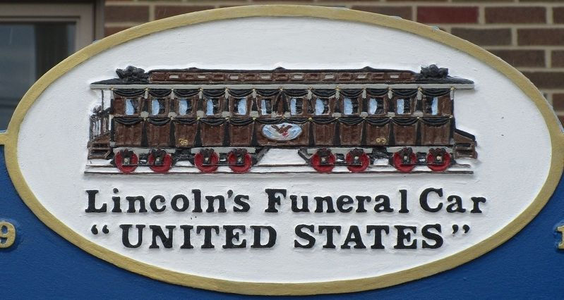 "Lincoln's Funeral Car ""United States"" Marker image. Click for full size."