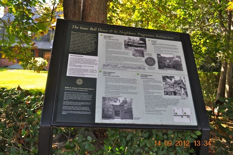 The Isaac Bell House & Its Neighbors: Progressive Architecture Marker image. Click for full size.