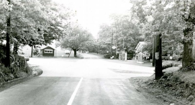 Schrack's Corner in 1950 image. Click for full size.