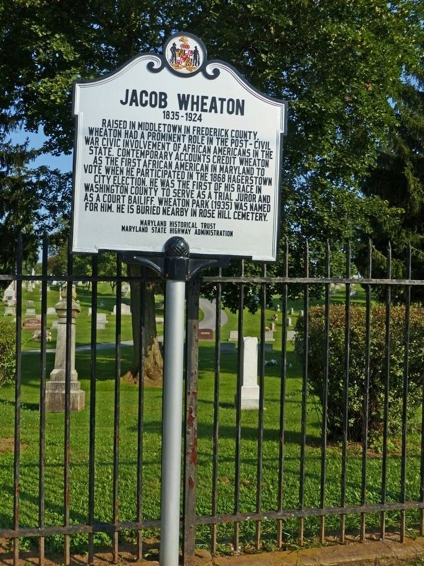 Jacob Wheaton Marker image. Click for full size.