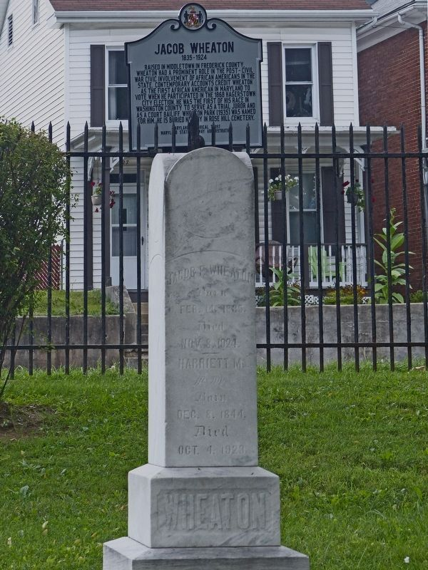 Wheaton Headstone in Rose Hill Cemetery image. Click for full size.