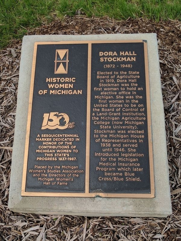 Dora Hall Stockman Marker image. Click for full size.