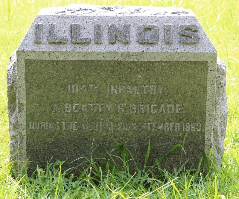 104th Illinois Infantry Marker image. Click for full size.