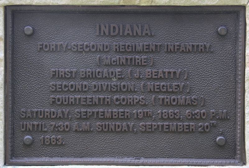 42nd Indiana Infantry Marker image. Click for full size.