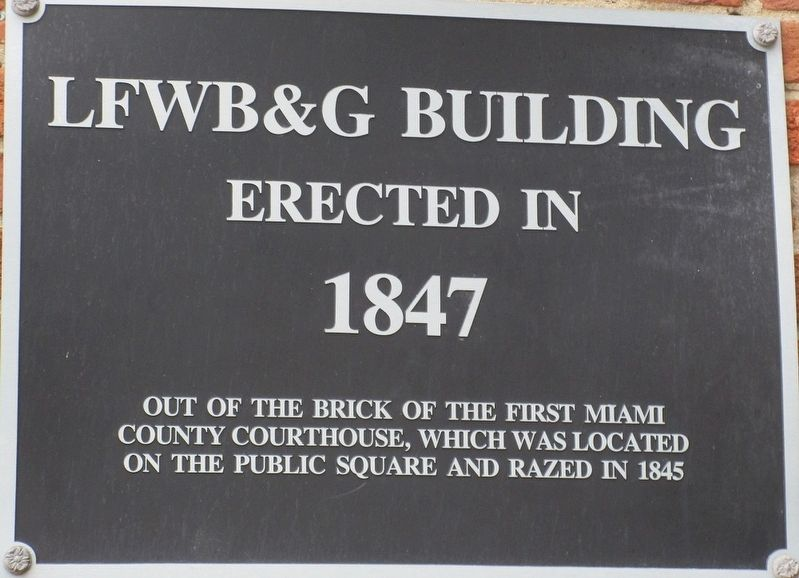 LFWB&G Building Marker image. Click for full size.