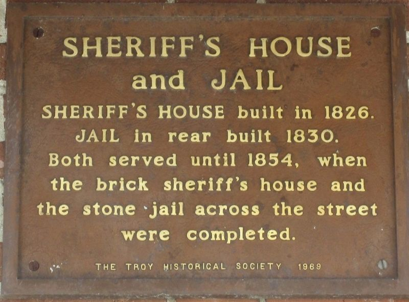Sheriff's House and Jail Marker image. Click for full size.