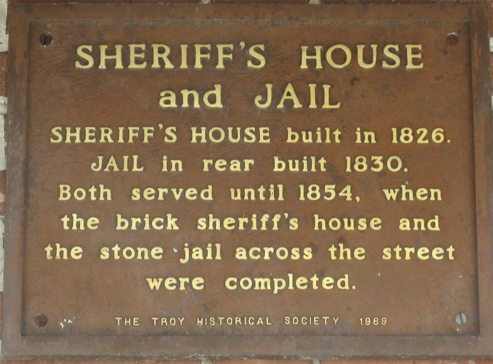Sheriff's House and Jail Marker