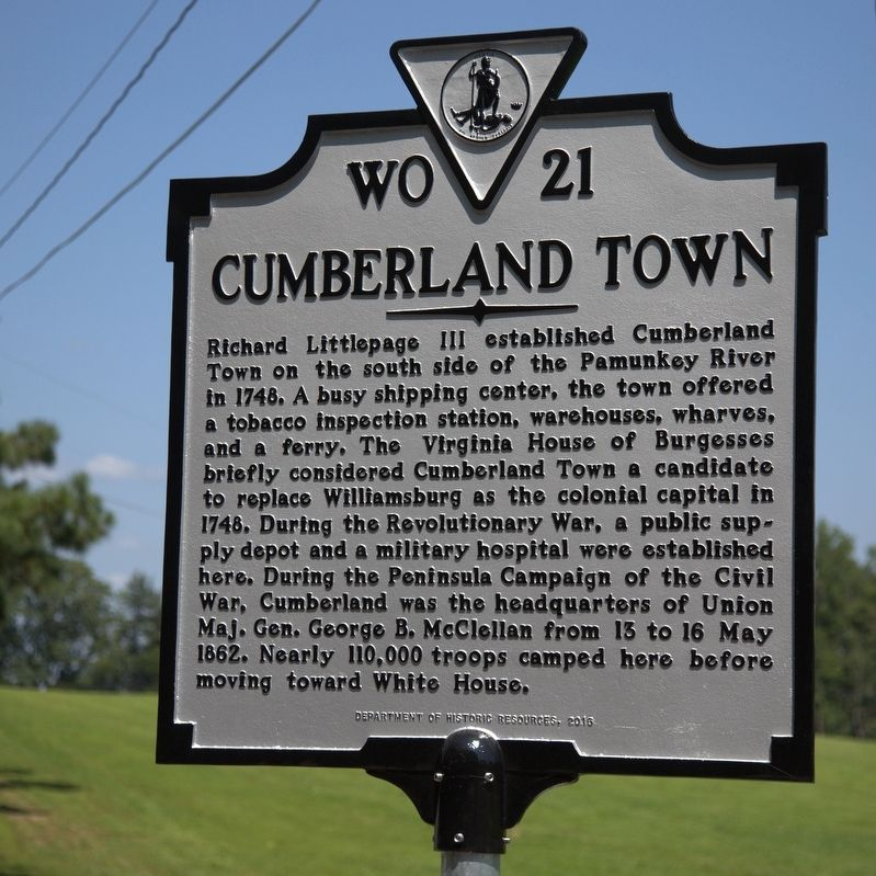 Cumberland Town Marker image. Click for full size.