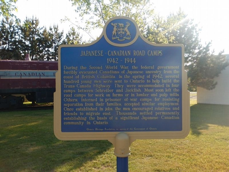 Japanese-Canadian Road Camps Marker image. Click for full size.