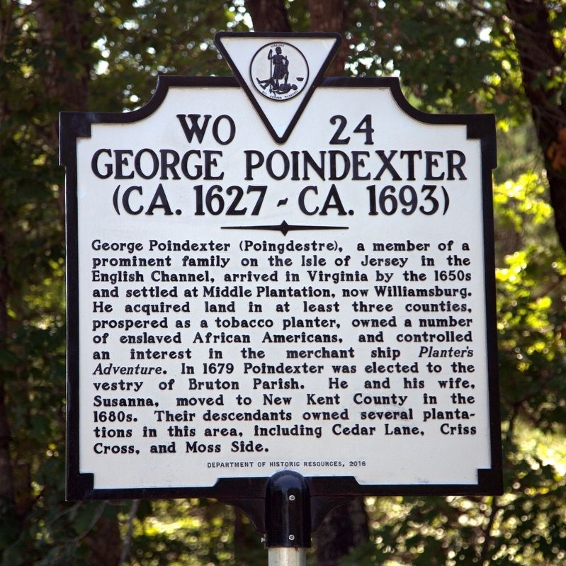 George Poindexter Marker image. Click for full size.