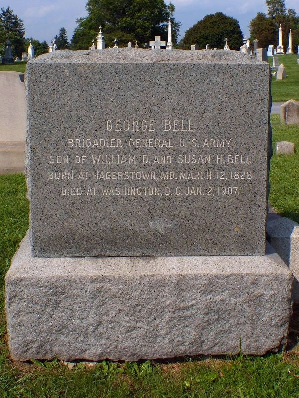 George Bell's Headstone - Rose Hill Cemetery image. Click for full size.