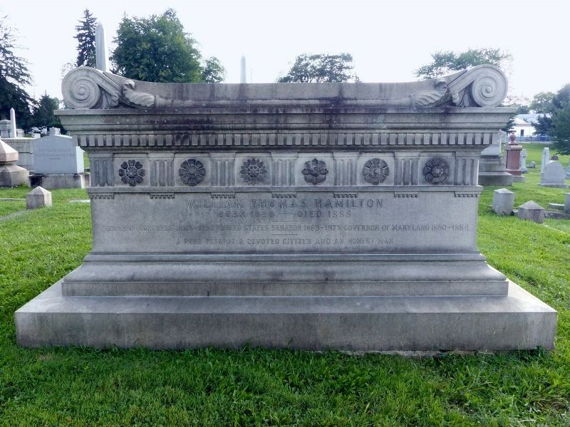 William Thomas Hamilton's Grave - Rose Hill Cemetery image. Click for full size.