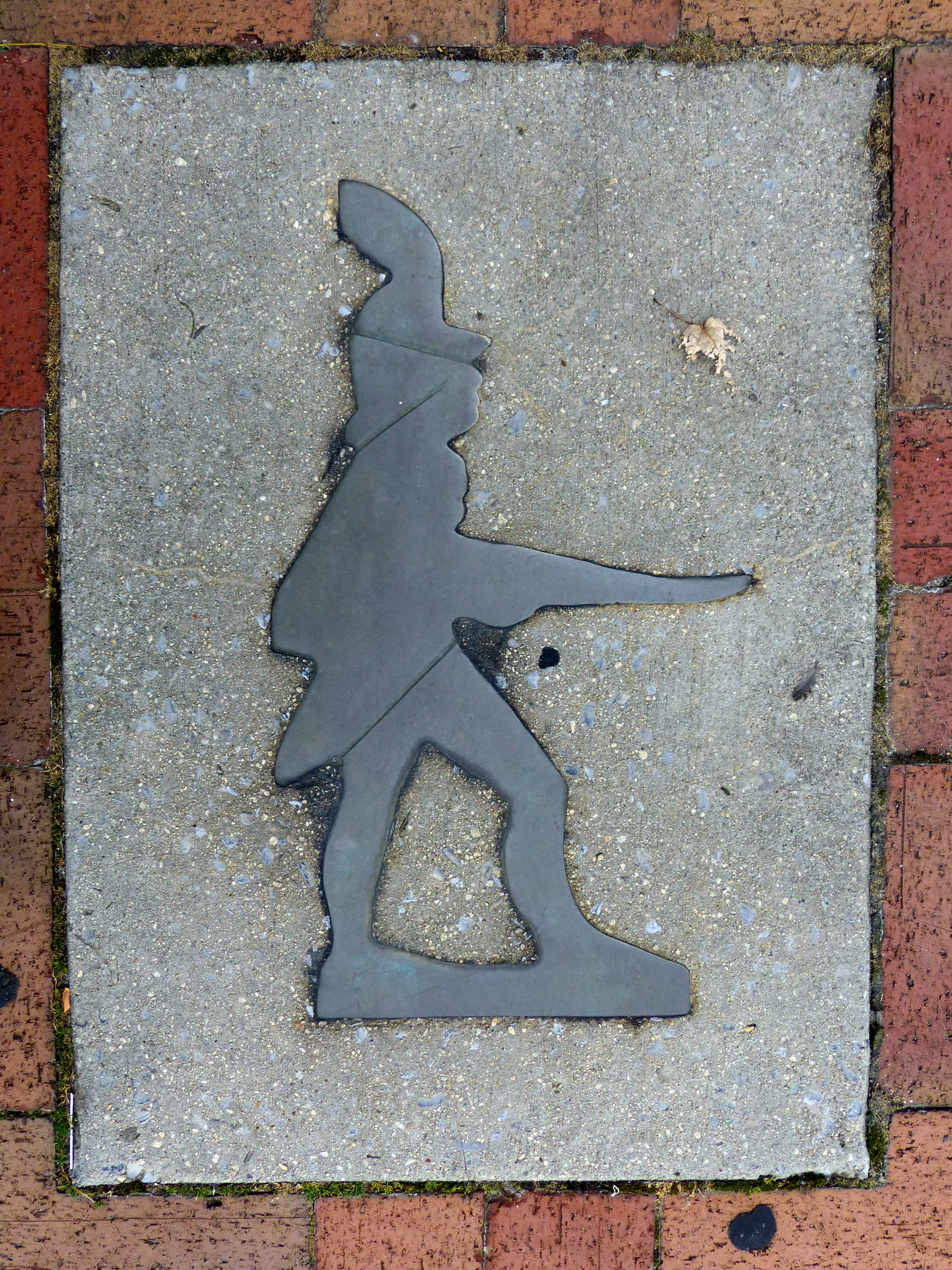 Little Heiskell<br>Embedded in the Sidewalk<br>Washington County Courthouse