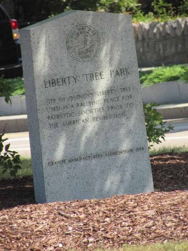 Liberty Tree Park Marker image. Click for full size.