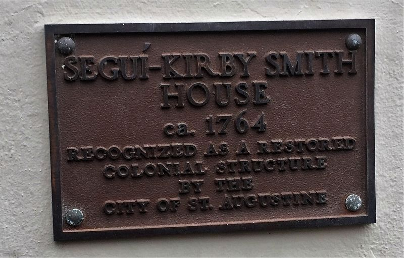 Segui-Kirby Smith House Marker image. Click for full size.