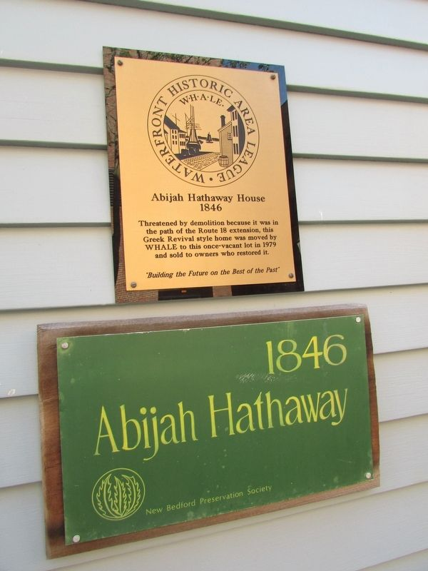 Abijah Hathaway House Marker image. Click for full size.