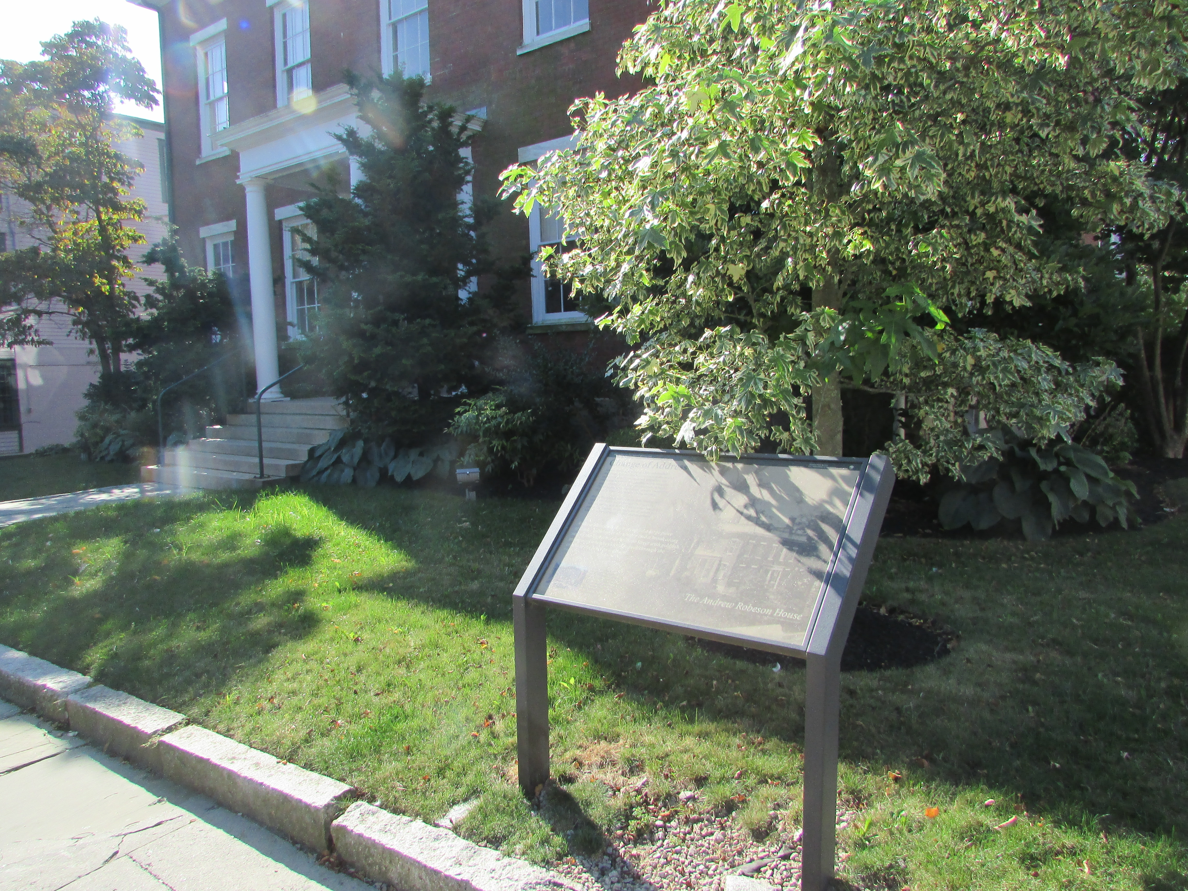 The Andrew Robeson House Marker