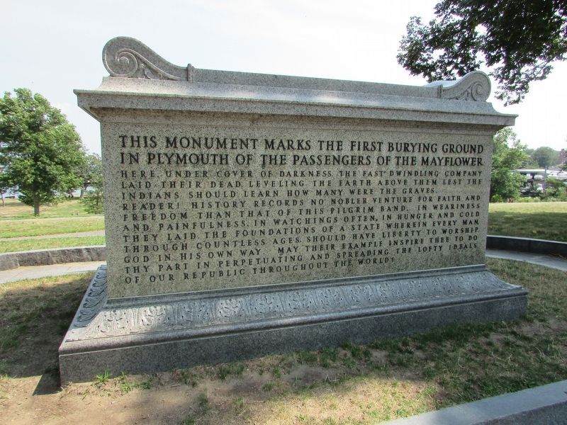 First Burying Ground of Mayflower Passengers Marker image. Click for full size.