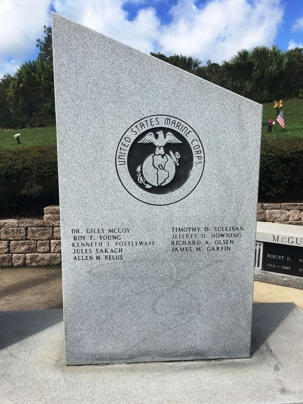 Vererans Memorial US Marine Corps Marker image. Click for full size.