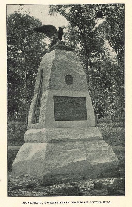 21st Michigan Infantry Marker image. Click for full size.