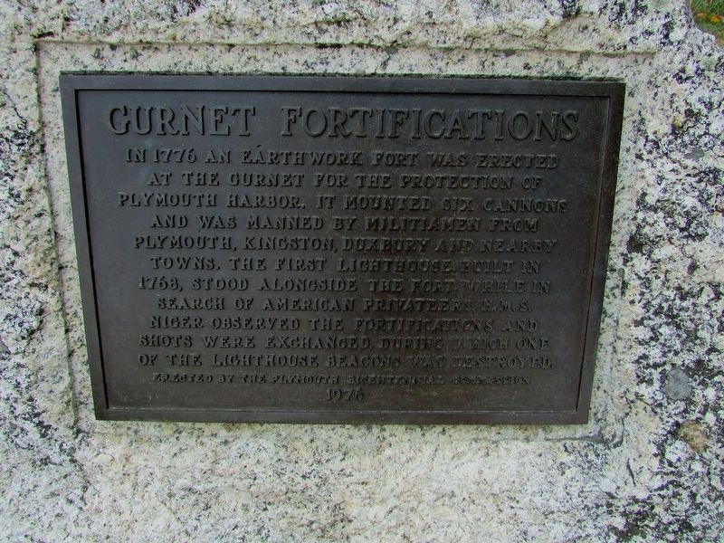 Gurnet Fortifications Marker image. Click for full size.