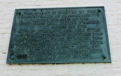 First House Built by the Pilgrims Marker image. Click for full size.