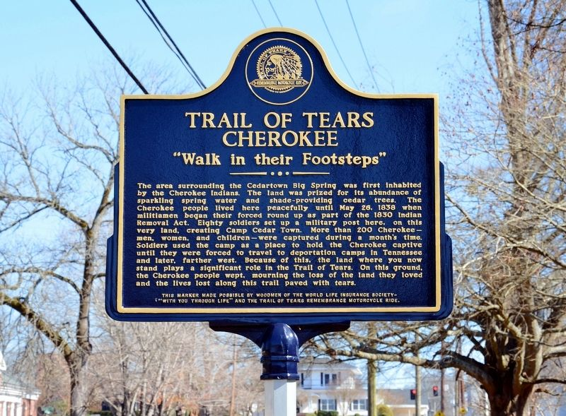 Trail of Tears Cherokee Marker image. Click for full size.