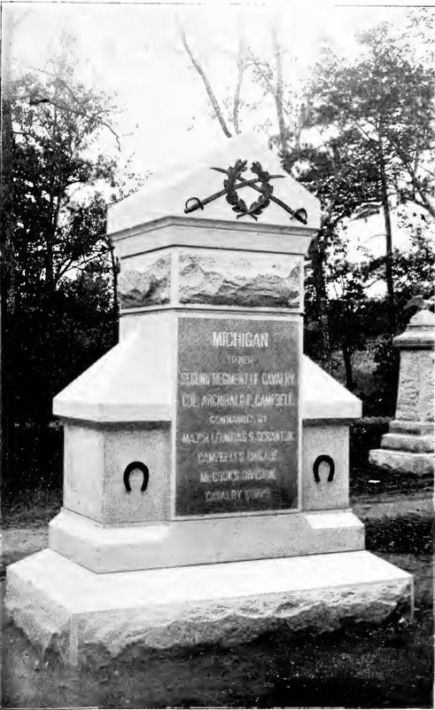 2nd Michigan Cavalry Marker image. Click for full size.