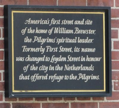 America's First Street Marker image. Click for full size.