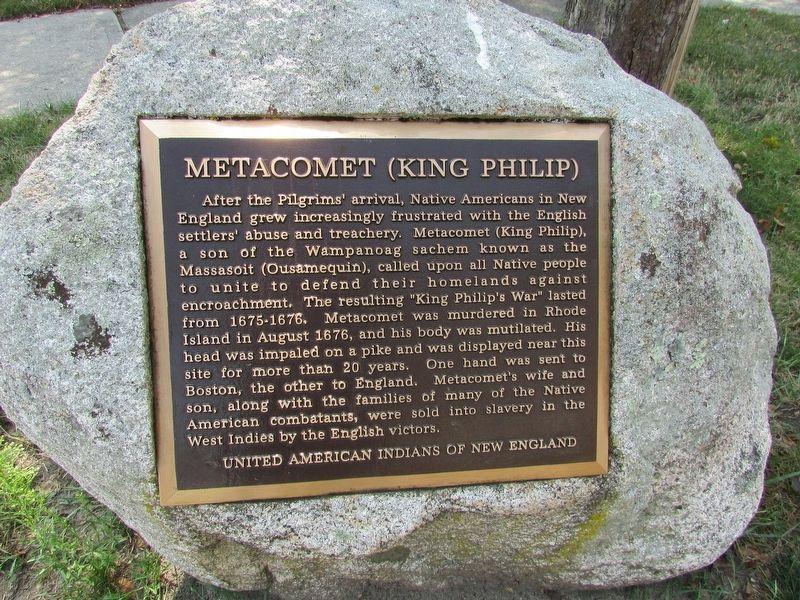 Metacomet (King Philip)	Marker image. Click for full size.