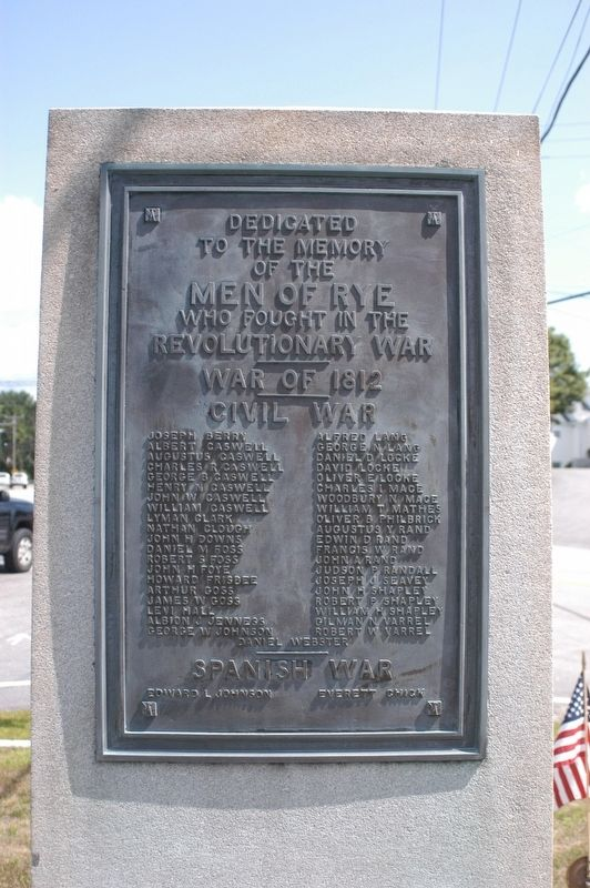 Rye NH War Memorial Marker image. Click for full size.