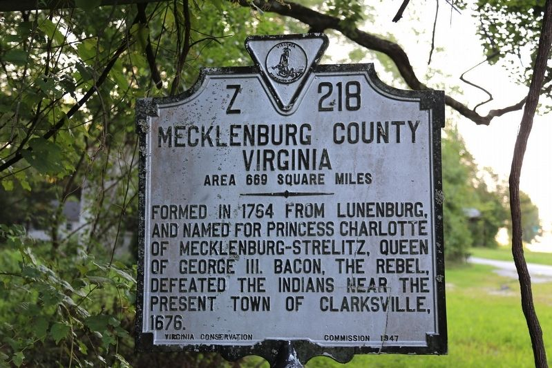 Mecklenburg County Face of the Marker image. Click for full size.