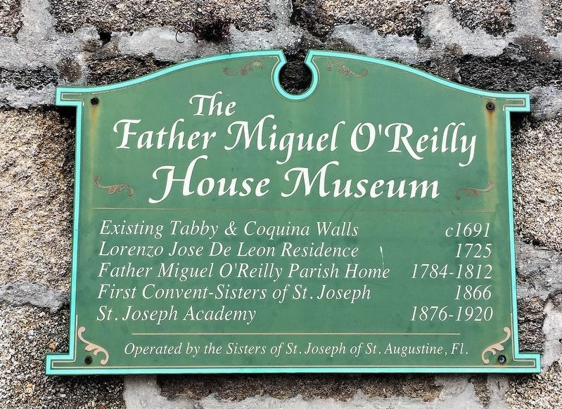 An additional Father Miguel O'Reilly House Marker image. Click for full size.