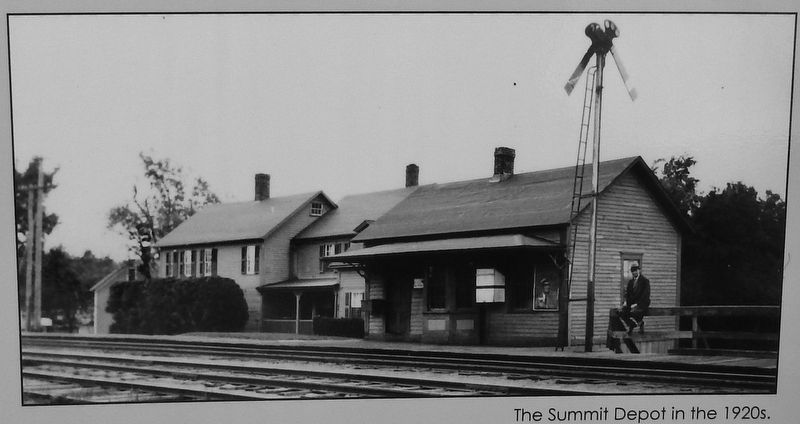 Summit Depot in the 1920's image. Click for full size.