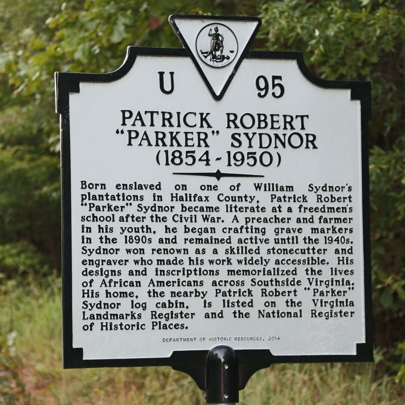 "Patrick Robert ""Parker"" Sydnor Marker image. Click for full size."