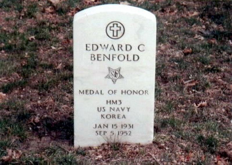 New Jersey Korean War Memorial-Edward C Benfold grave marker image. Click for full size.