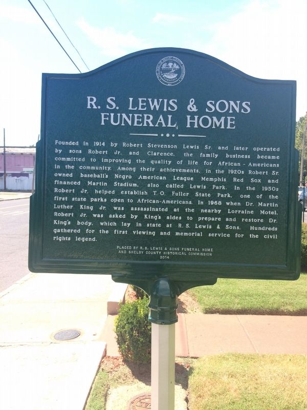 R.S Lewis & Sons Funeral Home Marker image. Click for full size.
