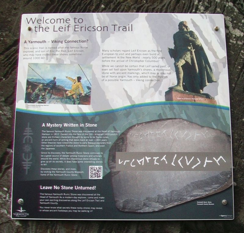 Welcome to the Leif Ericson Trail Marker image. Click for full size.