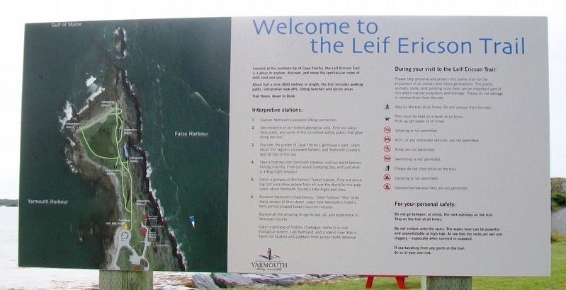Welcome to the Leif Ericson Trail Sign image. Click for full size.