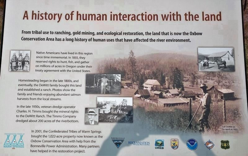Marker 1 - A History of Human Interaction With the Land image. Click for full size.