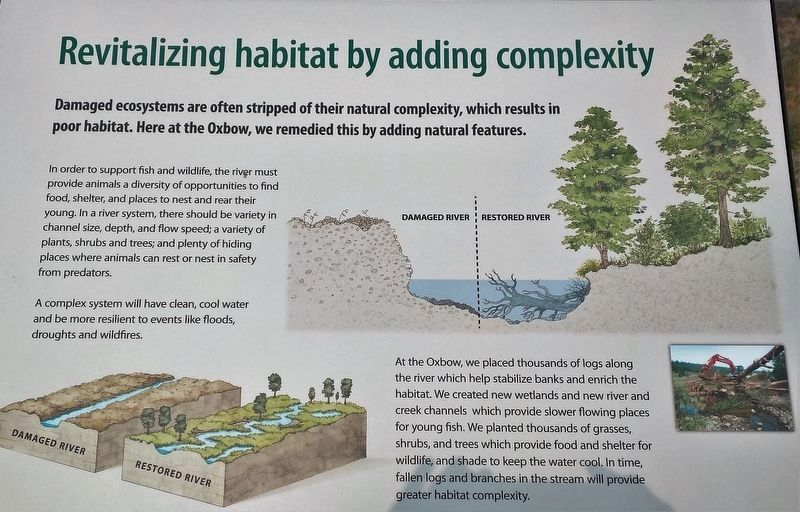 Marker 3 - Revitalizing Habitat by Adding Complexity image. Click for full size.