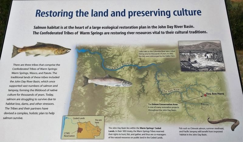 Marker 5 - Restoring the Land and Preserving Culture image. Click for full size.
