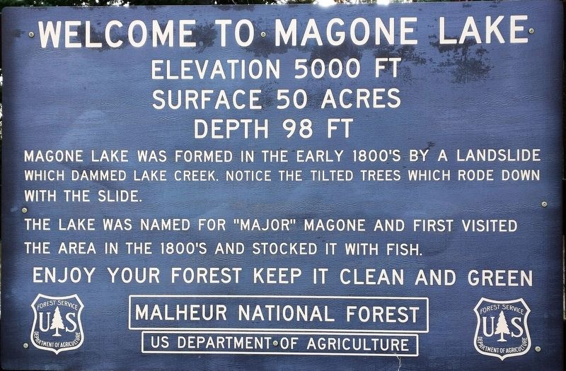 Welcome to Magone Lake Marker image. Click for full size.